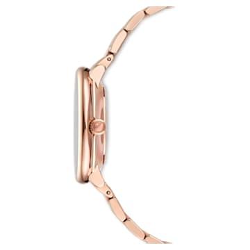 Ceas Crystalline Chic, Bratara metalica, Nuanță roz-aurie, Placat cu nuanță roz-aurie - Swarovski, 5544590