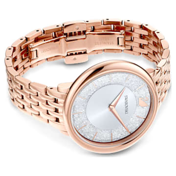 Orologio Crystalline Chic, Bracciale di metallo, Tono oro rosa, PVD oro rosa - Swarovski, 5544590
