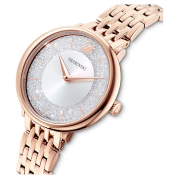 Crystalline Chic watch , Metal bracelet, Rose gold tone, Rose-gold tone plated - Swarovski, 5544590