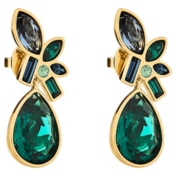 Beautiful Earth by Susan Rockefeller drop earrings, Multicolored, Gold-tone plated - Swarovski, 5545990