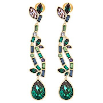 Pendientes Beautiful Earth, multicolor, baño tono oro - Swarovski, 5545991