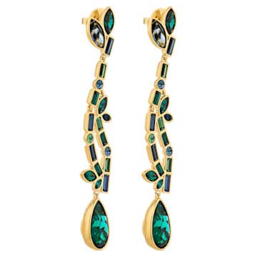 Beautiful Earth by Susan Rockefeller drop earrings, Multicolored, Gold-tone plated - Swarovski, 5545991