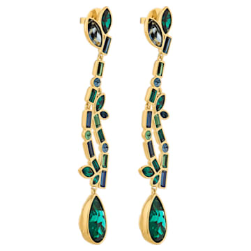 Beautiful Earth Pierced Earrings, Multicolored, Gold-tone plated - Swarovski, 5545991