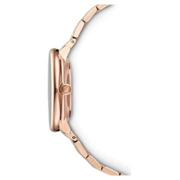 Crystalline Chic Watch, Metal bracelet, Red, Rose-gold tone PVD - Swarovski, 5547608