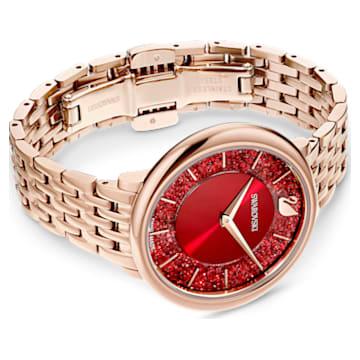 Crystalline Chic Uhr, Metallarmband, Rot, Roségoldfarbenes PVD-Finish - Swarovski, 5547608