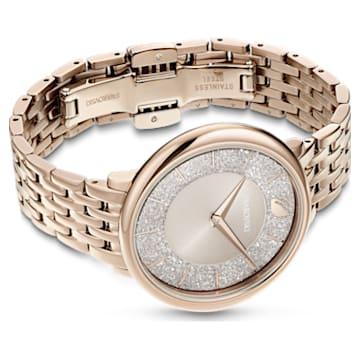 Crystalline Chic watch, Metal bracelet, Gray, Champagne-gold tone PVD - Swarovski, 5547611