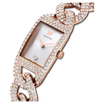 Montre Cocktail, Entièrement pavé , Bracelet en métal, Ton or rose, PVD doré rose - Swarovski, 5547614