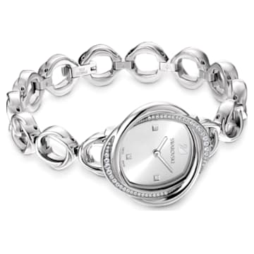 Relógio Crystal Flower, pulseira de metal, tom prateado, aço inoxidável - Swarovski, 5547622
