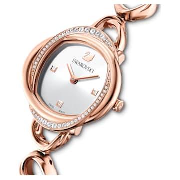 Zegarek Crystal Flower, bransoleta z metalu, odcień różowego złota, powłoka PVD w odcieniu różowego złota - Swarovski, 5547626