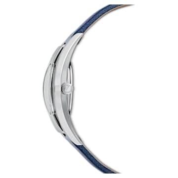 Crystalline Sporty 腕表, 真皮表带, 蓝色, 不锈钢 - Swarovski, 5547629