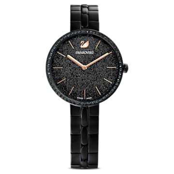 Hodinky Cosmopolitan, s kovovým páskem, černé, černé PVD - Swarovski, 5547646