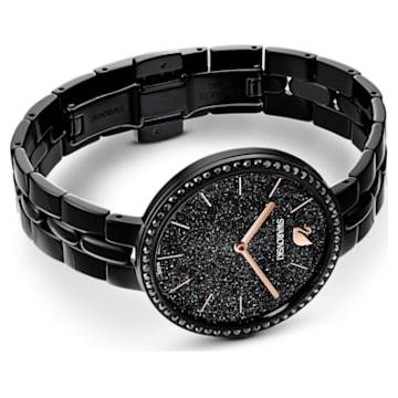 Cosmopolitan 手錶, 金屬手鏈, 黑色, 黑色 PVD 電鍍 - Swarovski, 5547646