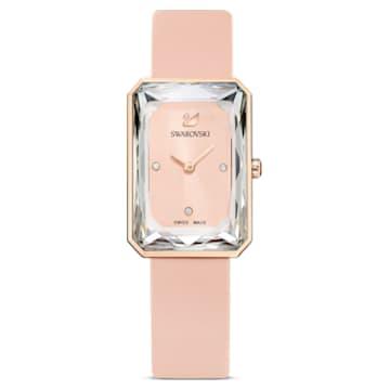 Orologio Uptown, cinturino in pelle, rosa, PVD oro rosa - Swarovski, 5547719