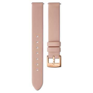 14 mm δερμάτινο λουράκι ρολογιού, ροζ, PVD σε χρυσή ροζ απόχρωση - Swarovski, 5548139