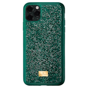 Coque rigide pour smartphone avec cadre amortisseur Glam Rock, iPhone® 11 Pro, vert - Swarovski, 5549939
