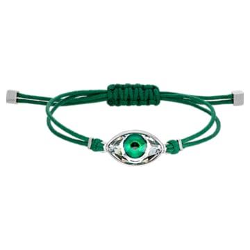 Swarovski Power Collection Evil Eye Armband, Böser Blick, mittel, Grün, Edelstahl - Swarovski, 5551805