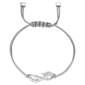 Swarovski Power Collection Hook 手鏈, 灰色, 鍍白金色 - Swarovski, 5551809