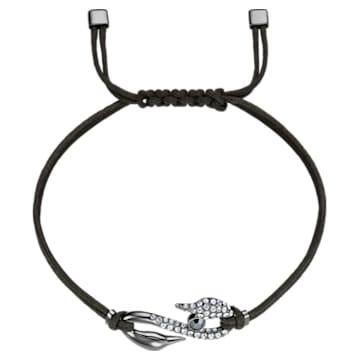Swarovski Power Collection Hook Bracelet, Dark grey, Ruthenium plated - Swarovski, 5551813