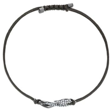 Swarovski Power Collection Hook Bracelet, Dark Gray, Ruthenium plated - Swarovski, 5551813