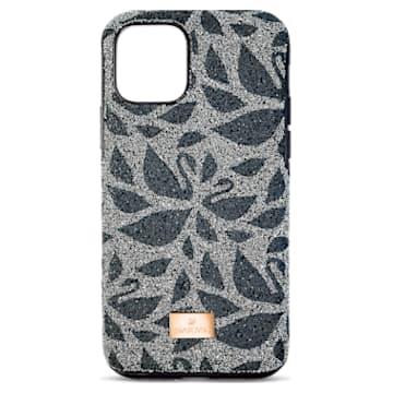 Swarovski Swanflower Smartphone Schutzhülle mit Stoßschutz, iPhone® 11 Pro Max, schwarz - Swarovski, 5552793