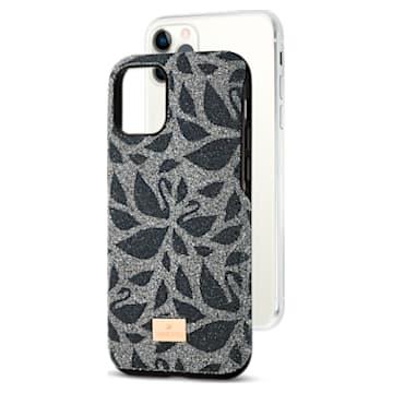 Swarovski Swanflower Smartphone Schutzhülle mit Stoßschutz, iPhone® 11 Pro, schwarz - Swarovski, 5552794