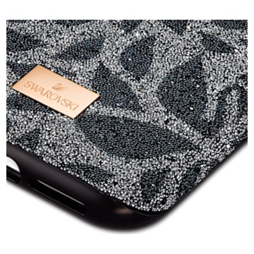 Coque rigide pour smartphone avec cadre amortisseur Swarovski Swanflower, iPhone® 11 Pro, noir - Swarovski, 5552794