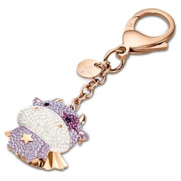 Zodiac Cow Подвеска на сумку, Пурпурный Кристалл, Покрытие оттенка розового золота - Swarovski, 5552795