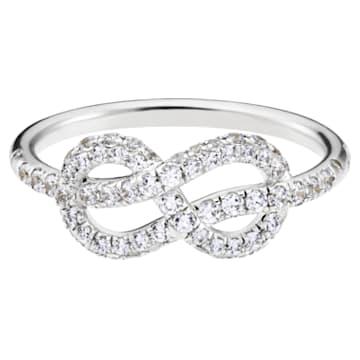 Knot of True Love Classic Pavé Ring, Swarovski Created Diamonds, 18K White Gold, Size 55 - Swarovski, 5553930