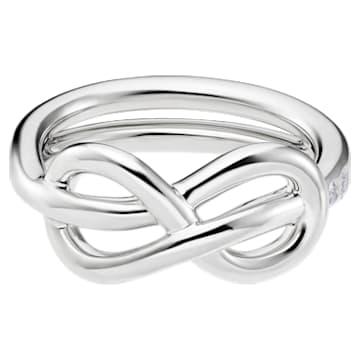 Knot of True Love Classic Ring, Swarovski Created Diamonds, 18K White Gold, Size 55 - Swarovski, 5553936