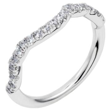Knot of True Love Classic Band Ring, Swarovski Created Diamonds, 18K White Gold, Size 58 - Swarovski, 5553944
