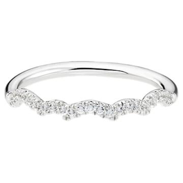 Knot of True Love Slim Band Ring, Swarovski Created Diamonds, 18K White Gold, Size 55 - Swarovski, 5553946