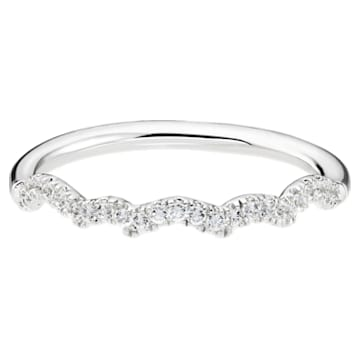 Knot of True Love Slim Band Ring, Swarovski Created Diamonds, 18K White Gold, Size 58 - Swarovski, 5553947