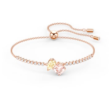 Attract Soul Bracelet, Light multi-colored, Rose-gold tone plated - Swarovski, 5554468