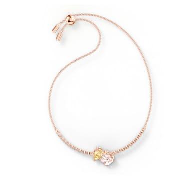 Pulsera Attract Soul, colores claros, baño tono oro rosa - Swarovski, 5554468