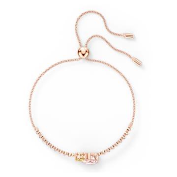 Bracelet Attract Soul, multicolore clair, métal doré rose - Swarovski, 5554468