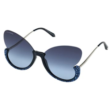 Moselle Sunglasses, Butterfly, SK0270-P, Blue - Swarovski, 5554993