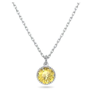 Wisiorek z kamieniem przypisanym do miesiąca urodzin, listopad, żółty, powlekany rodem - Swarovski, 5555791