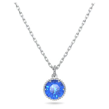 Colgante Birthstone, septiembre, azul, baño de rodio - Swarovski, 5555793