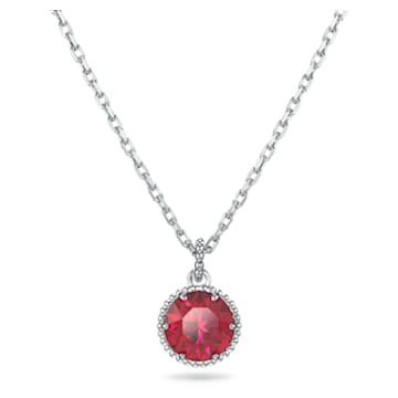 Pendentif Birthstone, juillet, rouge, métal rhodié - Swarovski, 5555795