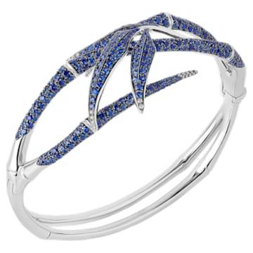 Bamboo Shoots Cuff Bracelet, Blue Swarovski Created Sapphires, 18K White Gold - Swarovski, 5555876