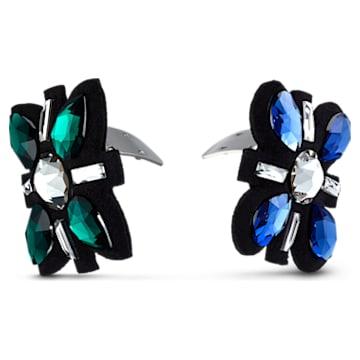 Swarovski Shoe Clips, Multicolored, Rhodium plated - Swarovski, 5556462
