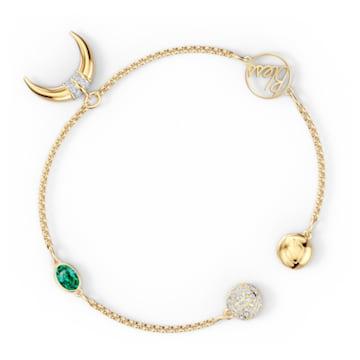 Strand Swarovski Remix Collection Horn, verde, placcato color oro - Swarovski, 5556903