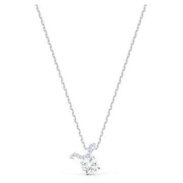 Pendentif Zodiac II, Taureau, blanc, finition mix de métal