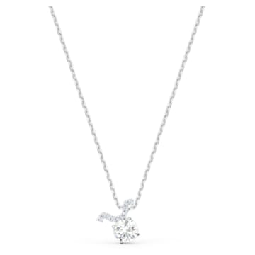 Zodiac II Pendant, Taurus, White, Mixed metal finish - Swarovski, 5556905