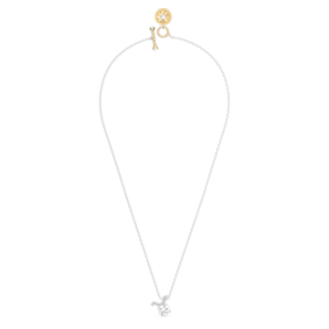 Zodiac II 鏈墜, 金牛座, 白色, 多種金屬潤飾 - Swarovski, 5556905