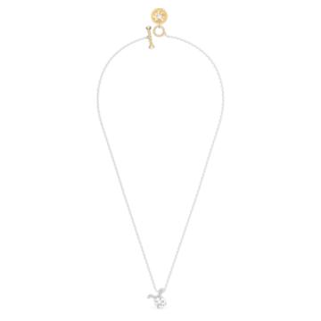 Zodiac II pendant, Taurus, White, Mixed metal finish - Swarovski, 5556905
