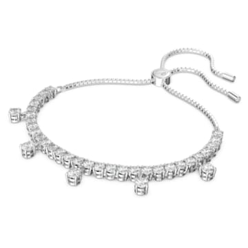 Subtle Drops 手链, 白色, 镀铑 - Swarovski, 5556913
