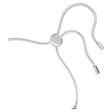 Subtle Drops 手鏈, 白色, 鍍白金色 - Swarovski, 5556913