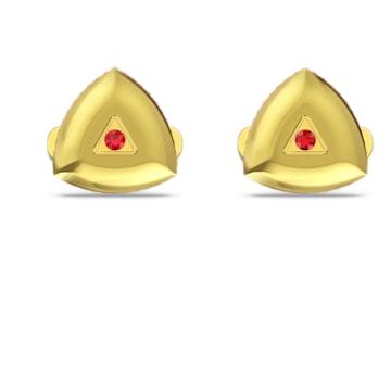 Theo Fire Element Cufflinks, Red, Gold-tone plated - Swarovski, 5557443