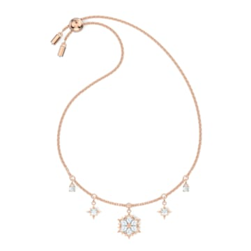 Magic 手链, 白色, 镀玫瑰金色调 - Swarovski, 5558186